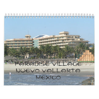 141, village Nuevo Vallarta Mexique de paradis Calendrier Mural