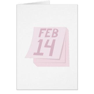 14 février calendrier cartes de vœux