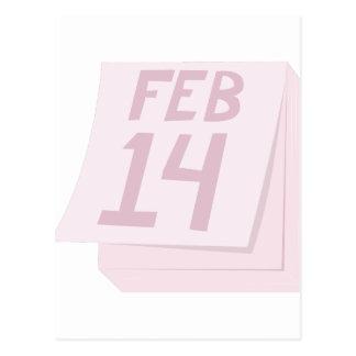 14 février calendrier carte postale