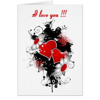 14 février : Je t'aime - Carte De Vœux