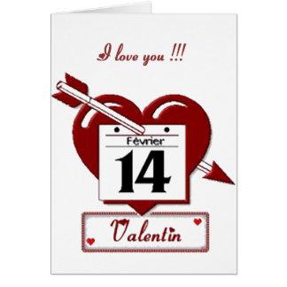 14 février : Je t'aime - Cartes De Vœux