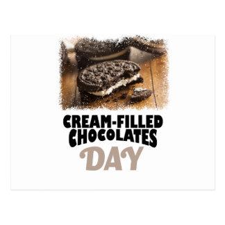 14 février - jour Crème-Rempli de chocolats Cartes Postales