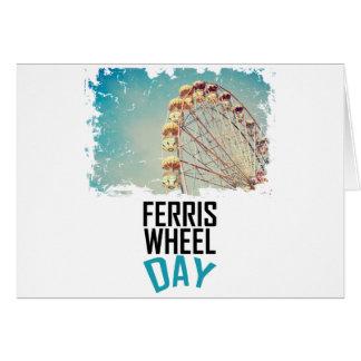 14 février - jour de roue de Ferris Carte De Vœux