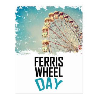 14 février - jour de roue de Ferris Carte Postale