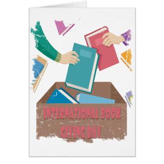 14 février - livre international donnant le jour carte de vœux