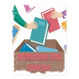 14 février - livre international donnant le jour carte postale