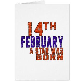 14 février une étoile était née carte de vœux