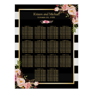 14 Tableaux dentellent le diagramme floral Poster