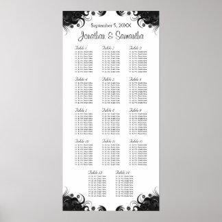 14 Tableaux les épousant noirs et blancs posant Poster