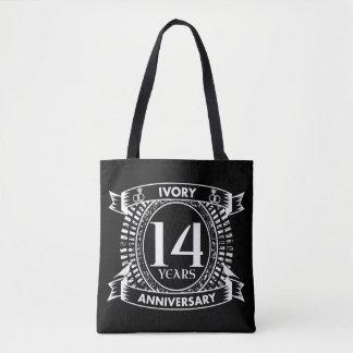 14ème anniversaire d'IVOIRE de mariage Tote Bag