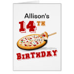 14ème Partie de pizza d'anniversaire Cartes