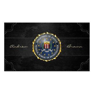 154 Edition spéciale de FBI Modèle De Carte De Visite