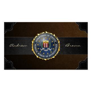 [154] Edition spéciale de FBI Modèle De Carte De Visite
