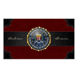 [154] Edition spéciale de FBI Modèles De Cartes De Visite