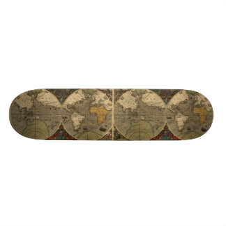 1595 cartes vintages du monde par Jodocus Hondius Skateboard
