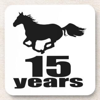 15 ans de conceptions d'anniversaire sous-bock