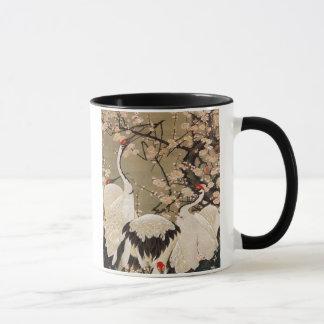 15. le 梅花群鶴図, prune de 若冲 se développe et des mugs