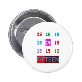 15ème jeu de pièce d'âge d'anniversaire de l'anniv pin's