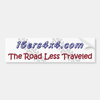 15ers4x4 - La route moins a voyagé Autocollants Pour Voiture
