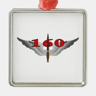 160th Régiment d'aviation d'opérations spéciales Ornement Carré Argenté