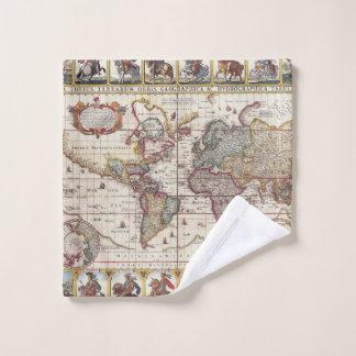 1652 carte du monde, carte du monde d'atlas de mer