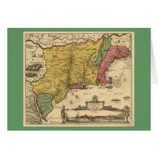 1685 carte - nouvelle Belgique, le nouveau monde,
