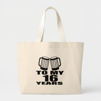 16 acclamations à mon anniversaire grand tote bag