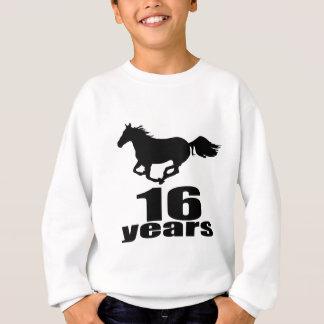 16 ans de conceptions d'anniversaire sweatshirt
