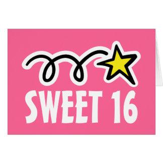 16) cartes d'anniversaire de sweet sixteen (