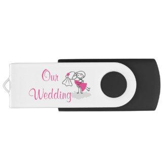 16 gigaoctets, mariage noir du  /Our Clé USB 3.0 Swivel