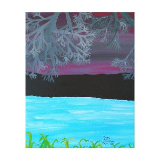 16' x 20' - décrivez le pourpre 2 de 3 panneaux toile