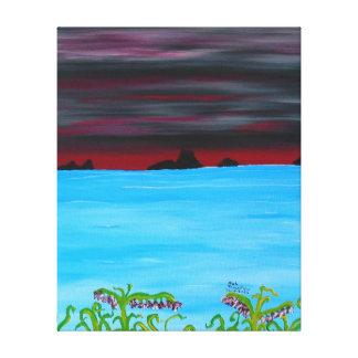 16' x 20' - décrivez le rouge 1 de 3 panneaux toile