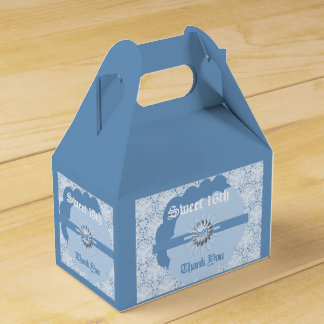 16ème boîte de pignon de faveur de bonbon bleu en ballotins