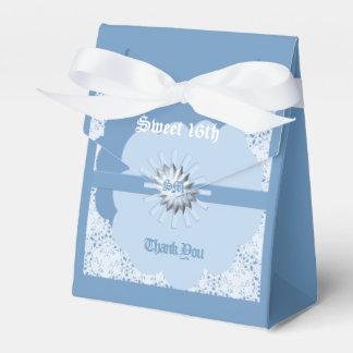 16ème boîte de tente de faveur de bonbon bleu en ballotins