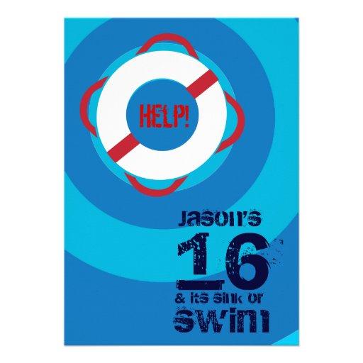16ème Invitation de réception au bord de la piscin