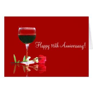 16ème style campagnard heureux de vin de carte