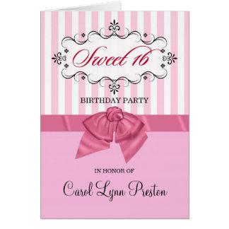 16èmes invitations de fête d'anniversaire de