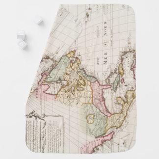 (1708) crus américains tôt de ~ de carte, couvertures de bébé