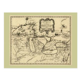 1755 Great Lakes et nouvelle carte de la France/du Carte Postale
