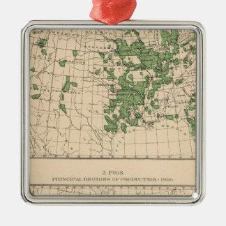 177 prunes, pruneaux, figues, principales régions ornement carré argenté