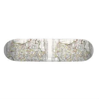 1806 carte - en 32 Gouvernements de la France de Skateboard Old School 21,6 Cm