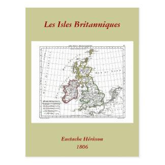 1806 carte - îles Britanniques de Les Carte Postale