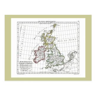 1806 carte - îles Britanniques de Les Cartes Postales