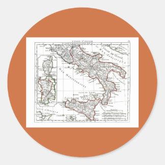1806 carte - L'Italie (lessive) Adhésifs Ronds
