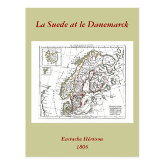 1806 carte - suède de La chez le Danemarck