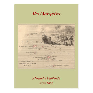 1858 marquis d Iles de carte France île de Marqu Carte Postale