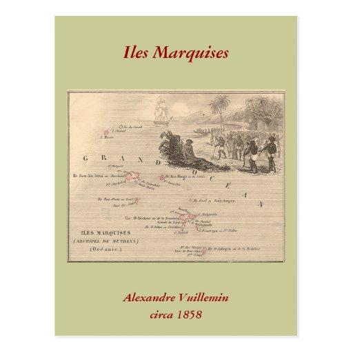 1858 marquis d'Iles de carte, France (île de Marqu Carte Postale