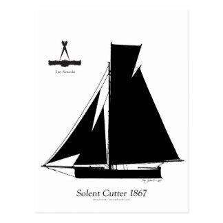 1867 coupeur solent - fernandes élégants carte postale