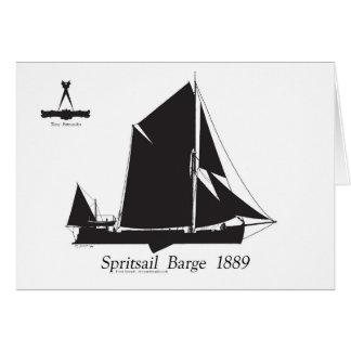 1889 péniche de spritsail - fernandes élégants carte de vœux