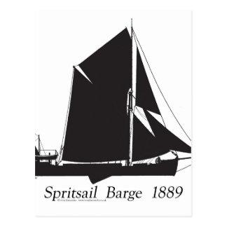 1889 péniche de spritsail - fernandes élégants carte postale